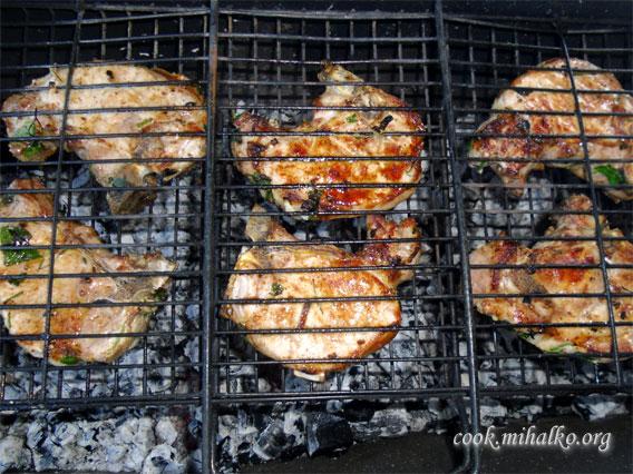 Прожариваем мясо до готовности