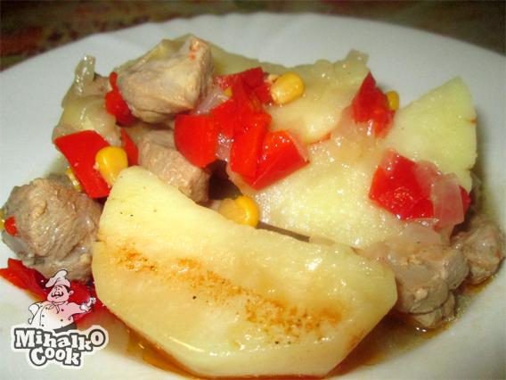 Индейка с картошкой в мультиварке - Простые рецепты