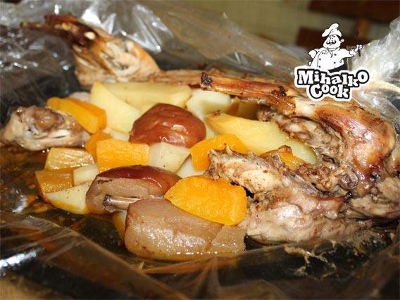 Блюда с мясом в рукаве
