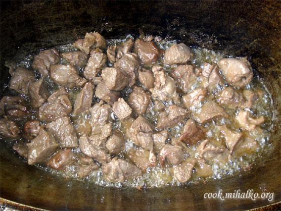 Жарим мясо до готовности