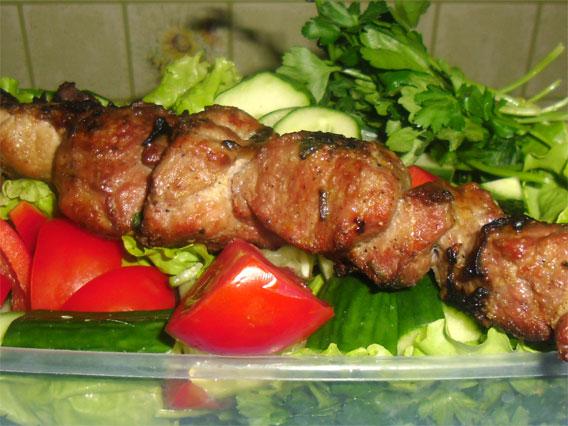 шашлык из баранины с киви рецепт
